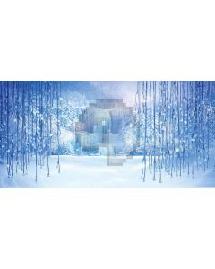 Ice World Computer Printed Dance Recital Scenic Backdrop ACP-400