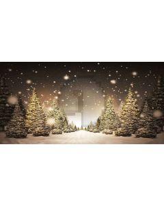christmas trees Computer Printed Dance Recital Scenic Backdrop ACP-430