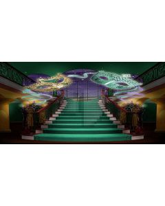 wonderful hall Computer Printed Dance Recital Scenic Backdrop ACP-432
