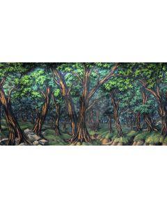 bushy forest Computer Printed Dance Recital Scenic Backdrop ACP-434