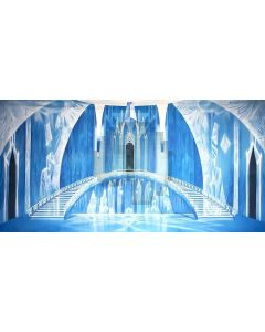 Ice Castle Computer Printed Dance Recital Scenic Backdrop ACP-435