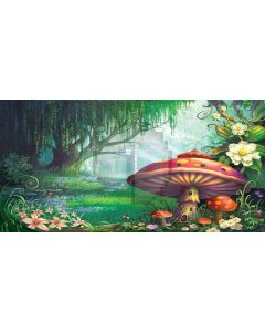 forest and mushroom Computer Printed Dance Recital Scenic Backdrop ACP-442