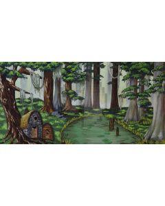 cold forest Computer Printed Dance Recital Scenic Backdrop ACP-455