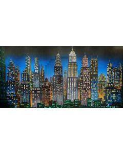 High-rise buildings Computer Printed Dance Recital Scenic Backdrop ACP-472