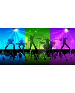 rock musician Computer Printed Dance Recital Scenic Backdrop ACP-479