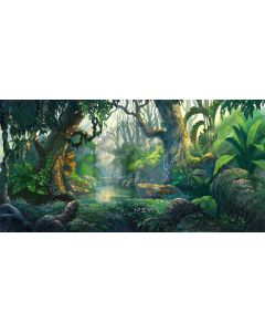 forest landscape Computer Printed Dance Recital Scenic Backdrop ACP-485