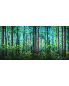 lush forest Computer Printed Dance Recital Scenic Backdrop ACP-490