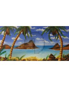 Happy Hawaii Computer Printed Dance Recital Scenic Backdrop ACP-500