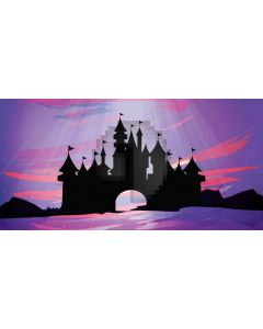 Black Castle Computer Printed Dance Recital Scenic Backdrop ACP-503
