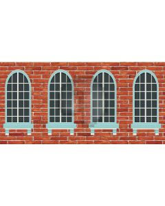 window  wall Computer Printed Dance Recital Scenic Backdrop ACP-506