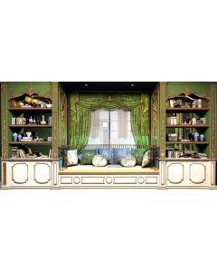 Bookshelf Curtain Sofa Bolster Computer Printed Dance Recital Scenic Backdrop ACP-542