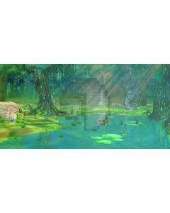 Bright Forest River Stone Computer Printed Dance Recital Scenic Backdrop ACP-544