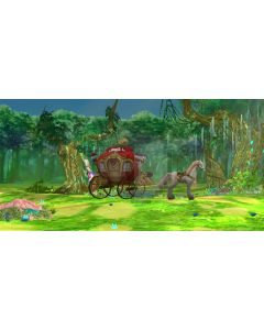 Forest Illumination Grass Flower Carriage Computer Printed Dance Recital Scenic Backdrop ACP-547