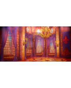 Warm Curtain Candle Ceiling Window Computer Printed Dance Recital Scenic Backdrop ACP-548