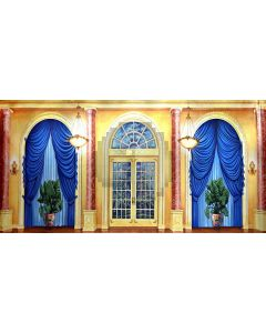 Arch Pillar Curtain Ceiling Lamp Pot Plant Computer Printed Dance Recital Scenic Backdrop ACP-552