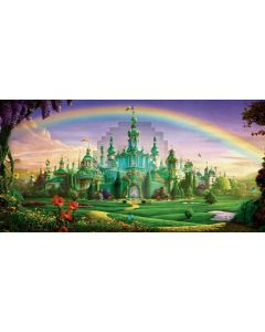 Castle Rainbow Tree Flower Computer Printed Dance Recital Scenic Backdrop ACP-555