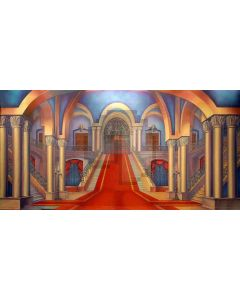 Arch Pillar Curtain Stairs Computer Printed Dance Recital Scenic Backdrop ACP-557