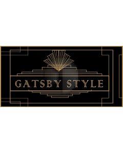 Gatsby Style Figure Computer Printed Dance Recital Scenic Backdrop ACP-561