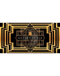 Black Gold Gatsby Style Figure Computer Printed Dance Recital Scenic Backdrop ACP-562