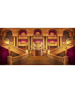 Stairs Arch Curtain Bronze Statue Computer Printed Dance Recital Scenic Backdrop ACP-581