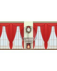 Curtain Window Fireplace Computer Printed Dance Recital Scenic Backdrop ACP-586