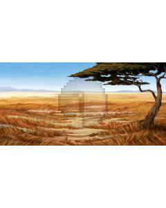 Tree Grass Cloud Mountain Computer Printed Dance Recital Scenic Backdrop ACP-601