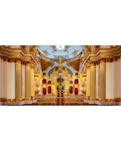 Arch Pillar Gold Floor Computer Printed Dance Recital Scenic Backdrop ACP-607