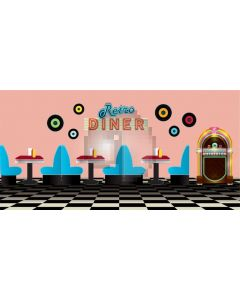 Diner Table Chair Cd Wall Computer Printed Dance Recital Scenic Backdrop ACP-610