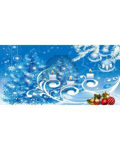 Snow Tree Ball Snowfake Candle Computer Printed Dance Recital Scenic Backdrop ACP-614