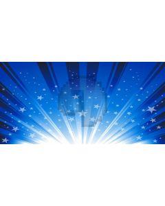 Blue White Light Star Computer Printed Dance Recital Scenic Backdrop ACP-616