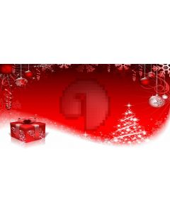 Christmas Present Tree Ball Computer Printed Dance Recital Scenic Backdrop ACP-618