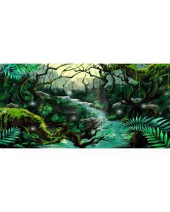 Tree River Sunshine Light Computer Printed Dance Recital Scenic Backdrop ACP-620