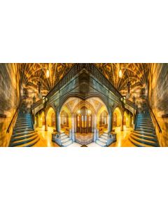 Arch Light Stairs Gold Computer Printed Dance Recital Scenic Backdrop ACP-627