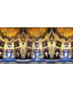 Arch Dome Blue Gold Computer Printed Dance Recital Scenic Backdrop ACP-639