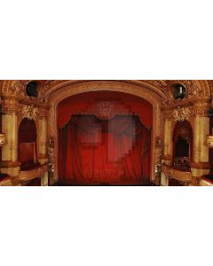 Red Theatre Computer Printed Dance Recital Scenic Backdrop ACP-064