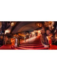 Stairs Red Carpet Light Computer Printed Dance Recital Scenic Backdrop ACP-667