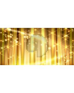 golden  light Computer Printed Dance Recital Scenic Backdrop ACP-066