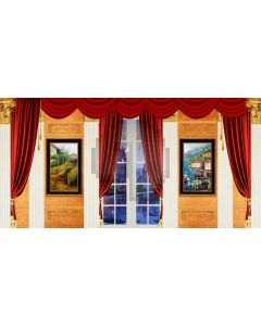Curtain Painting Wall Computer Printed Dance Recital Scenic Backdrop ACP-699