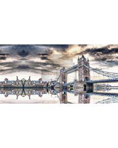 Bridge Building Inverted Image Computer Printed Dance Recital Scenic Backdrop ACP-710