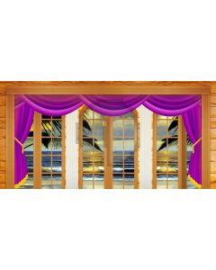Curtain Sea Cloud Window Computer Printed Dance Recital Scenic Backdrop ACP-711