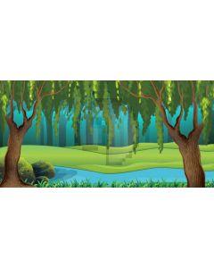 Forest River Tree Computer Printed Dance Recital Scenic Backdrop ACP-713
