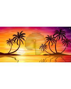 Sea Sunset Tree Computer Printed Dance Recital Scenic Backdrop ACP-715