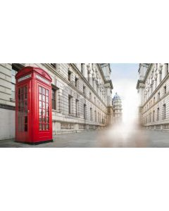 Building Street Telephone Booth Computer Printed Dance Recital Scenic Backdrop ACP-723