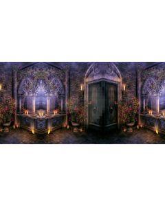 Door Flower Wood Floor Computer Printed Dance Recital Scenic Backdrop ACP-733