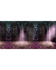 Flower Window Plant Light Computer Printed Dance Recital Scenic Backdrop ACP-750