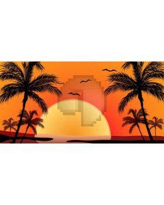 Tree Sun Bird Sunset Computer Printed Dance Recital Scenic Backdrop ACP-771