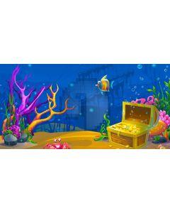 Underworld Fish Tree Treasure Computer Printed Dance Recital Scenic Backdrop ACP-799