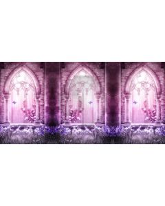 Arch Purple Light Flower Grass Computer Printed Dance Recital Scenic Backdrop ACP-803