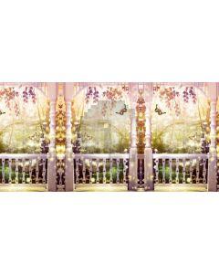 Flower Pillar Balcony Computer Printed Dance Recital Scenic Backdrop ACP-805