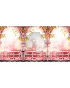 Arch Plant Pink Light Computer Printed Dance Recital Scenic Backdrop ACP-807